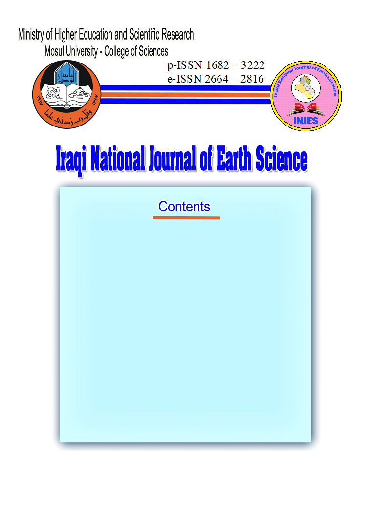 Iraqi National Journal of Earth Sciences